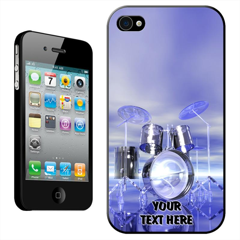 Funky-Reflective-Drum-Set-Futuristic-Hard-Case-Back-Cover-For-iPhone-4-4S